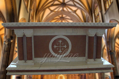 Classic Religious Church Marble Altar Table