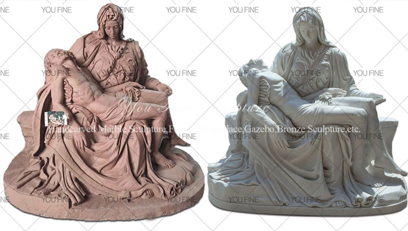 Religion Theme Michelangelo Pieta Stone Mother Virgin Mary and jesus status for church