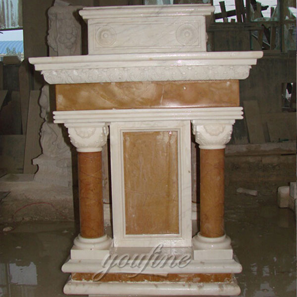 Religious statues of antique marble pulpit for sale