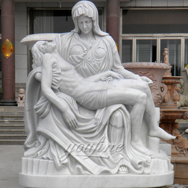 Classical modern michelangelo pieta sculpture for church outdoor