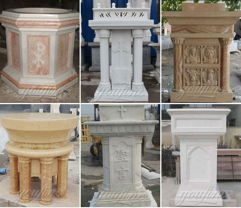 Factory Wholesale Luxury White Marble Religious Altar for Church
