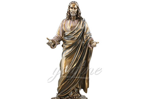 Bronze Meditating Christian Jesus Statue for Church Decoration for Sale