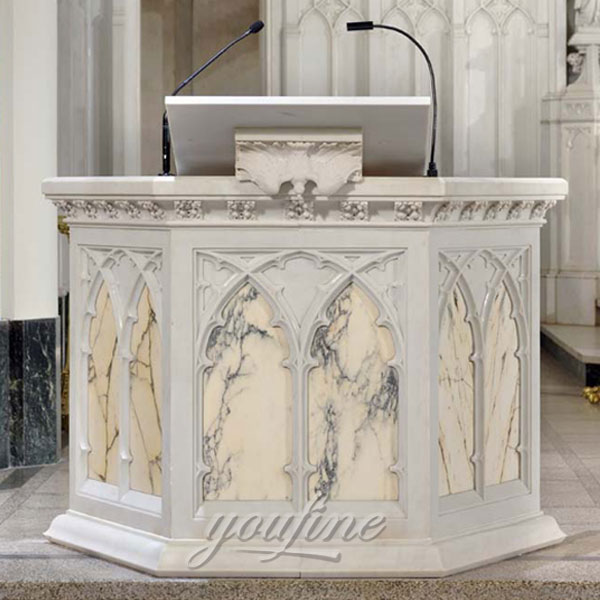 Church decor hand carving white marble altar religious statues for sale