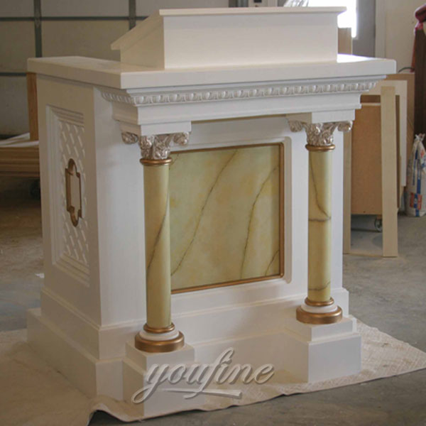 Hand Carved Garden Natural Marble Altar for Sale