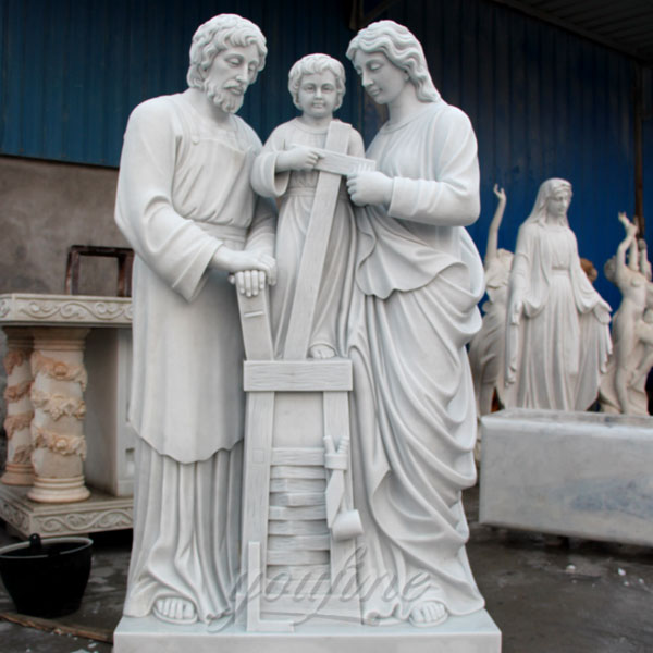 Church decorative holy family of mary joseph and baby jesus statues design