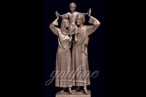 Hot Selling Bronze Christian Holy Family Statue Mother Virgin Mary and Baby Jesus