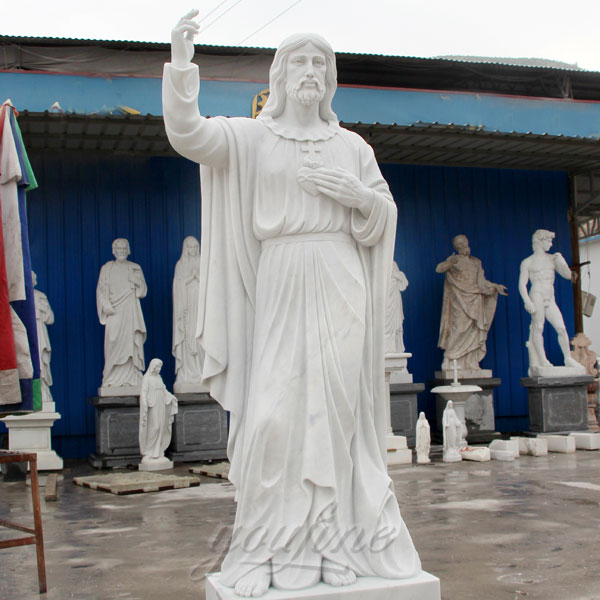 Large Garden Religious Marble Sacred Heart of Jesus Statues Suppliers