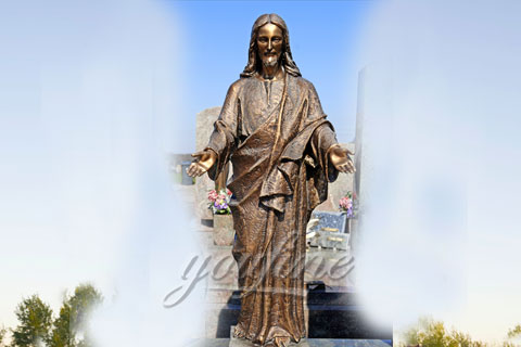 Outdoor Decoration Antique Life Size Bronze Jesus Statue for Outdoor Decor
