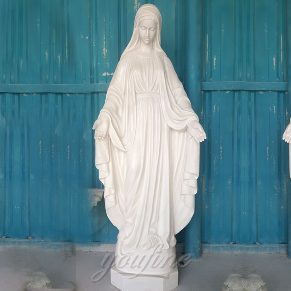 Outdoor white marble mary statues catholic for sale