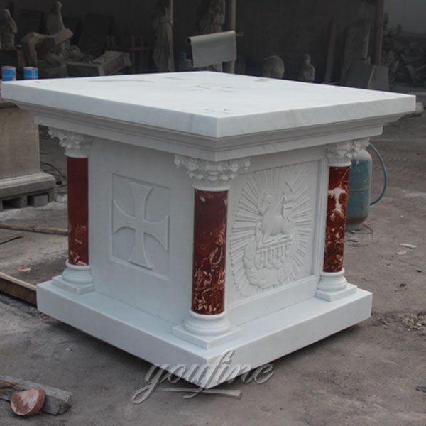 Stone Altars For Sale: Factory Wholesale Luxury White Marble Religious Altar For