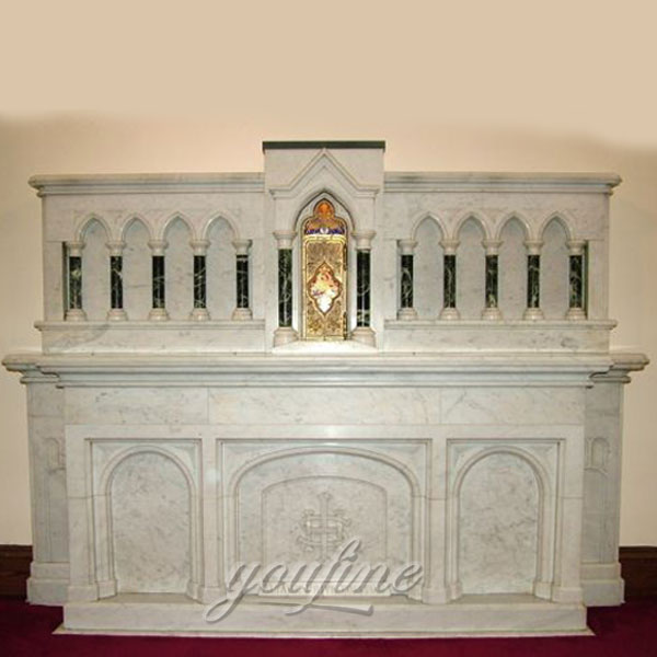 Classic Religious Carved Marble Altar Table Price for sale