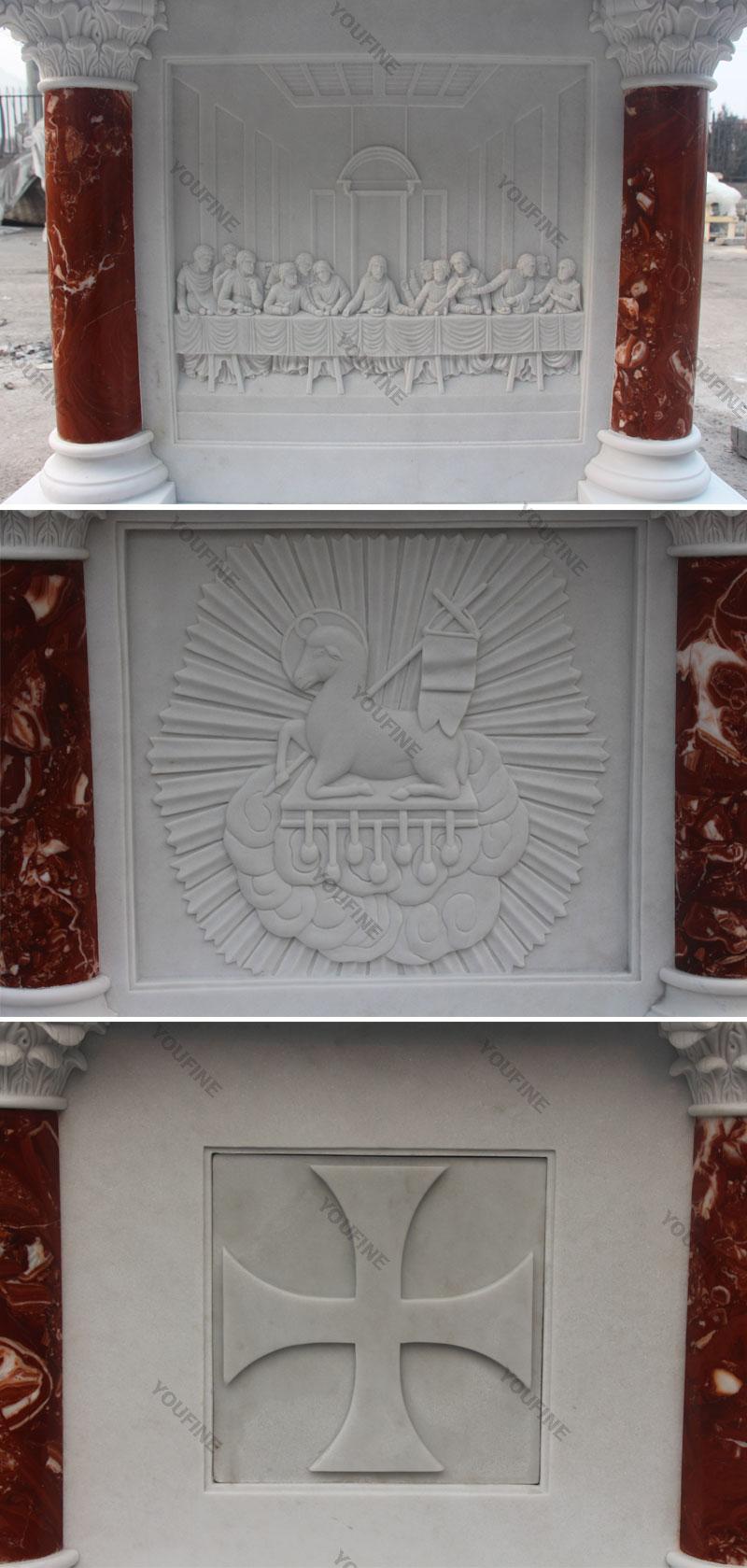 Wholesale Luxury White Marble Religious Altar for Church