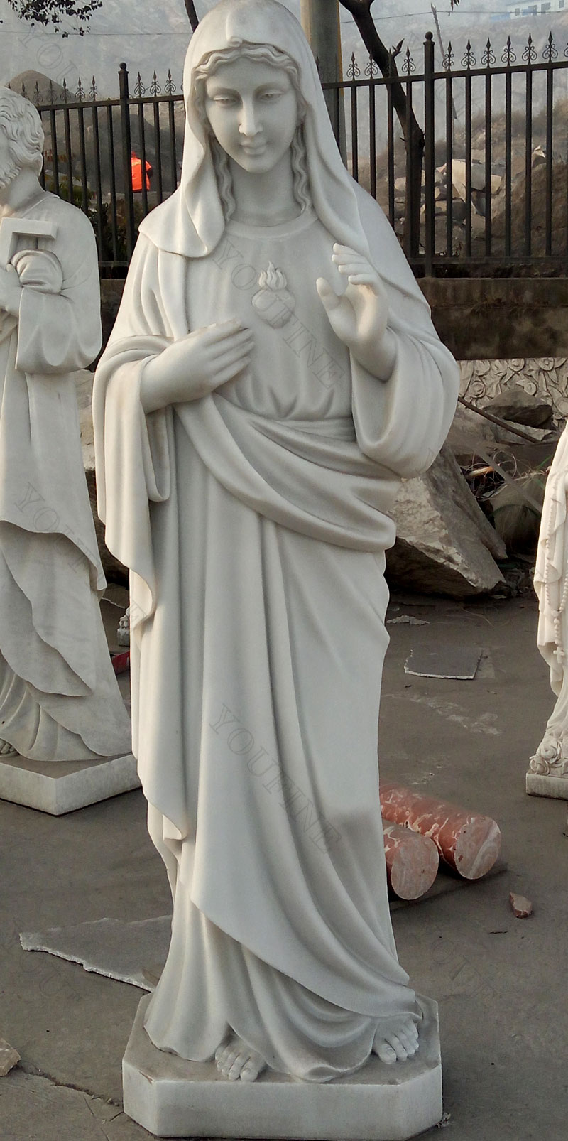 life size marble carving sacred heart mary statues designs