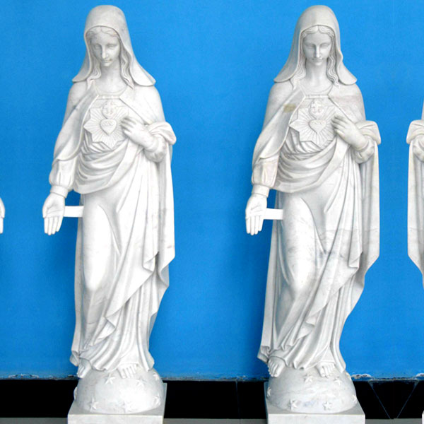 Life Size stone catholic statues of mary for church decor