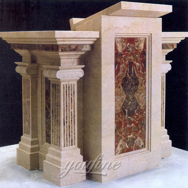 religious statues of luxury antiqure marble altar for church decor