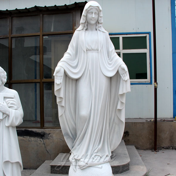 High Quality Stone Saint Virgin Mary garden Statues for Church Decor