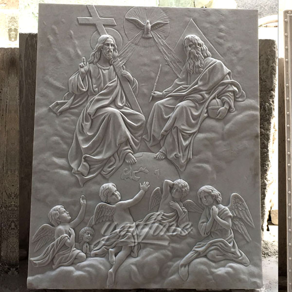 Large customized religious Jesus relief marble sculpture made for Carlos