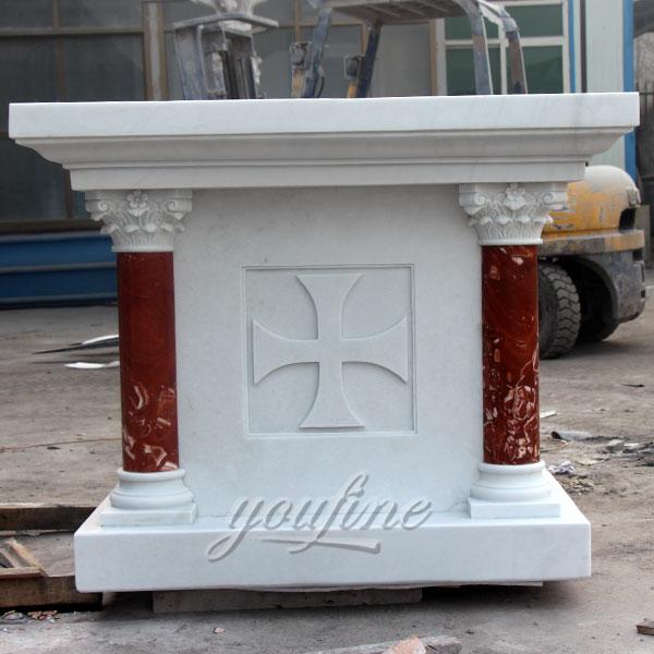 Customized church marble altar sculpture