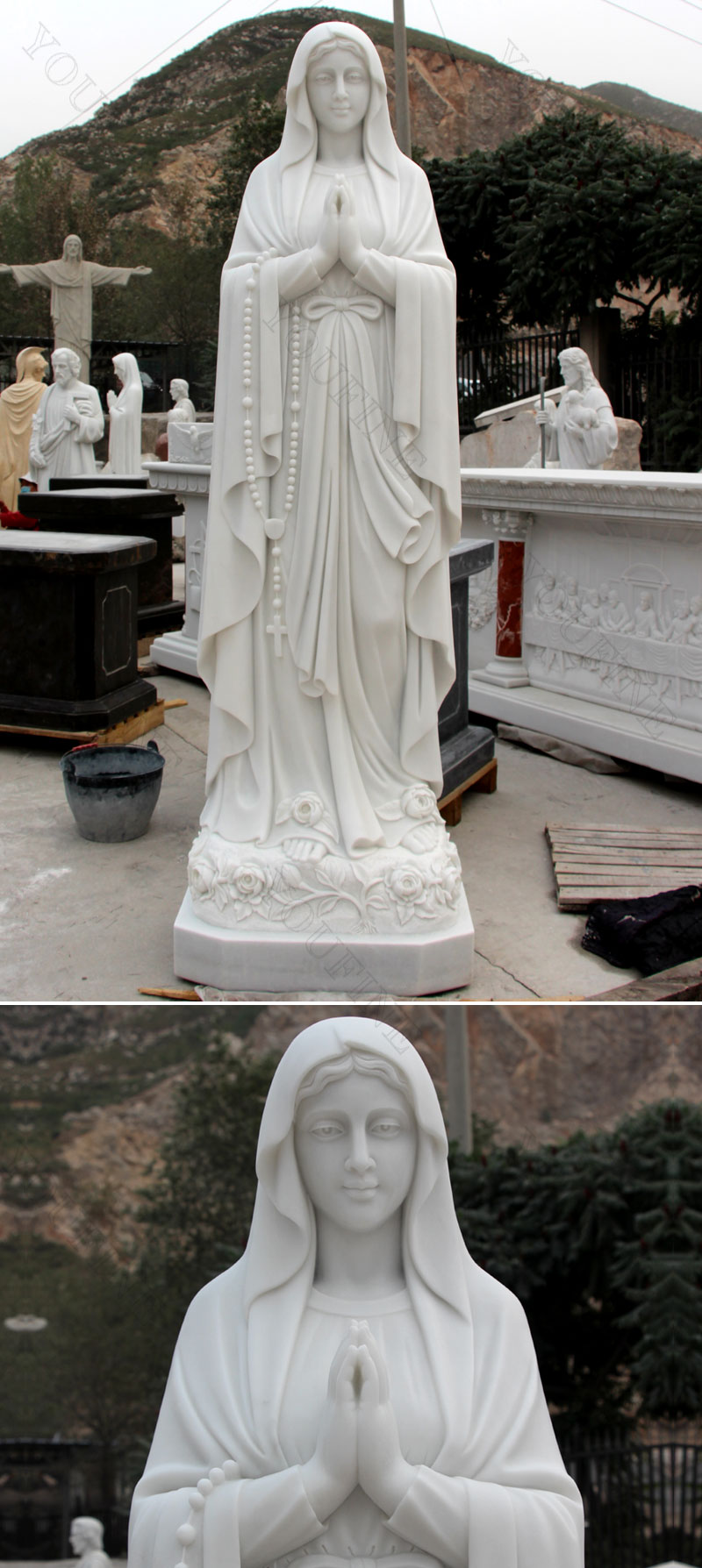Our Lady of Lutheran statues designs
