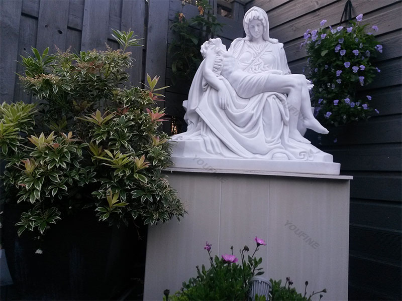 Religion Theme Michelangelo Pieta Stone Mother Virgin Mary and jesus statues for garden