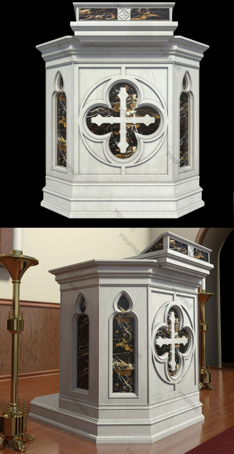 2018 Religious Modern Church Marble Pulpit Podium Design for Sale