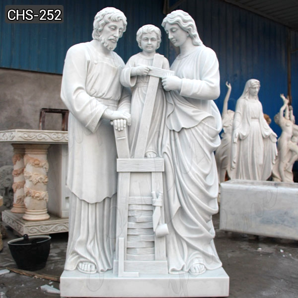 1 Life Size Holy Family Marble Statue