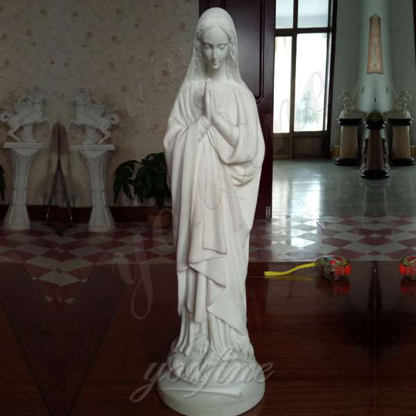 High Quality Religious Life Size Virgin Mary Marble Statue for Sale CHS-273