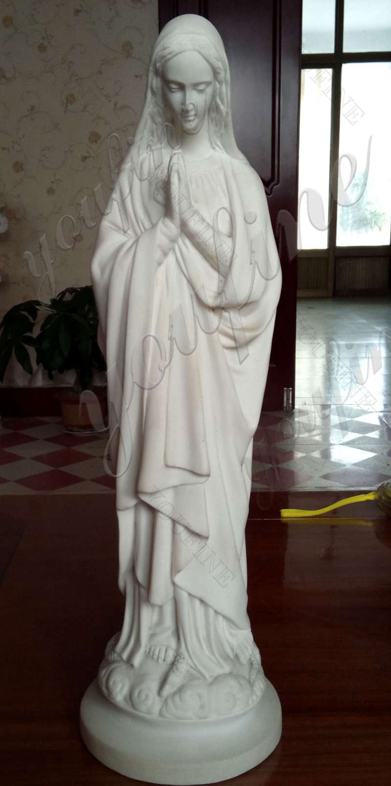 High Quality Religious Life Size Virgin Mary Marble Statue
