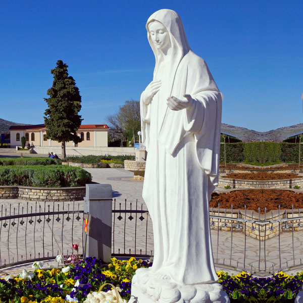 Beautiful White Marble Virgin Mary Sculptures Garden Statues for Sale CHS-90