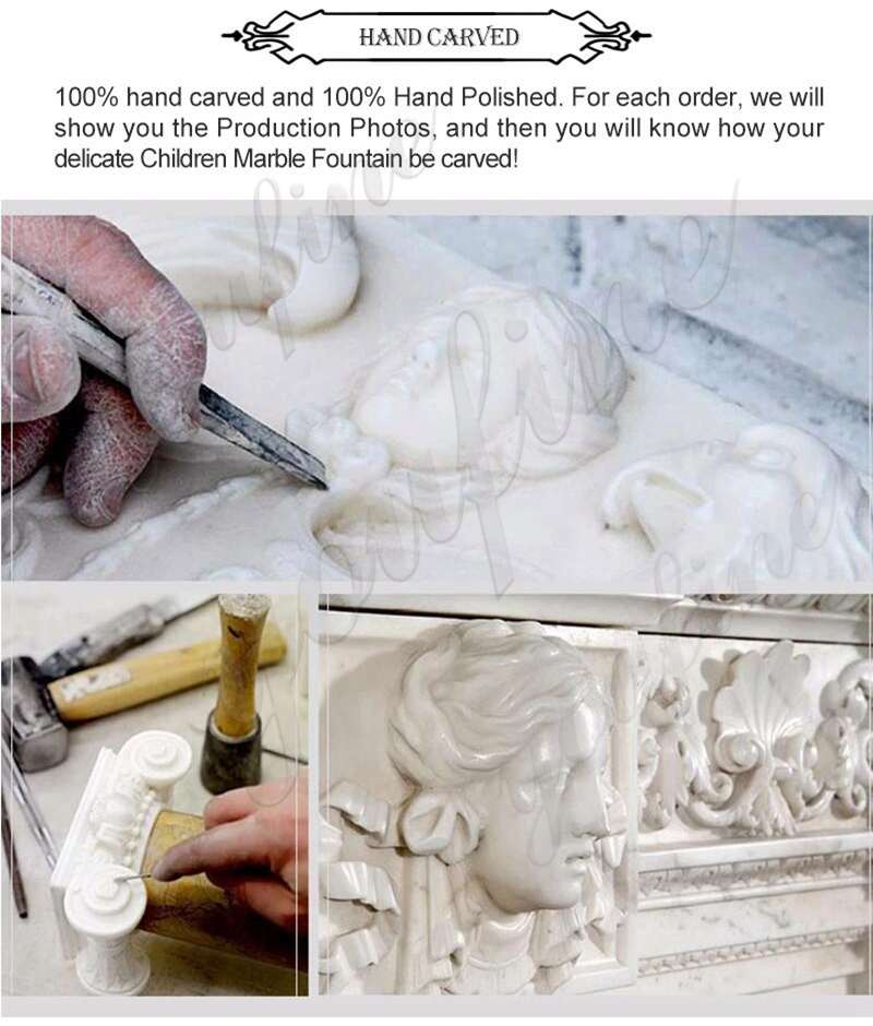 process of Religious Life Size Virgin Mary Marble Statue