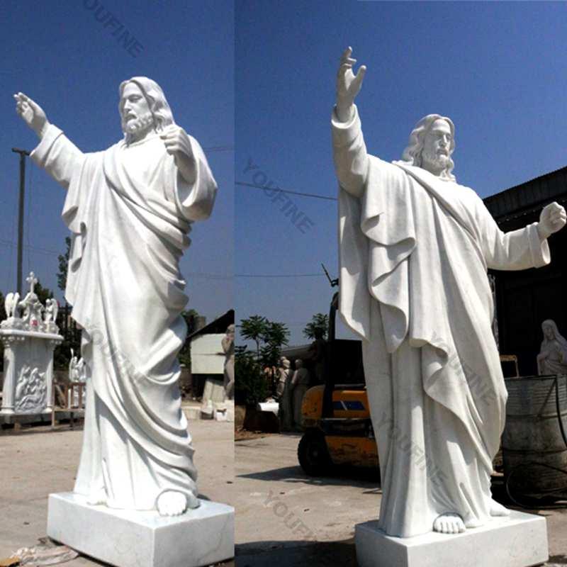 Catholic White Marble Church Jesus Statue CHS-608
