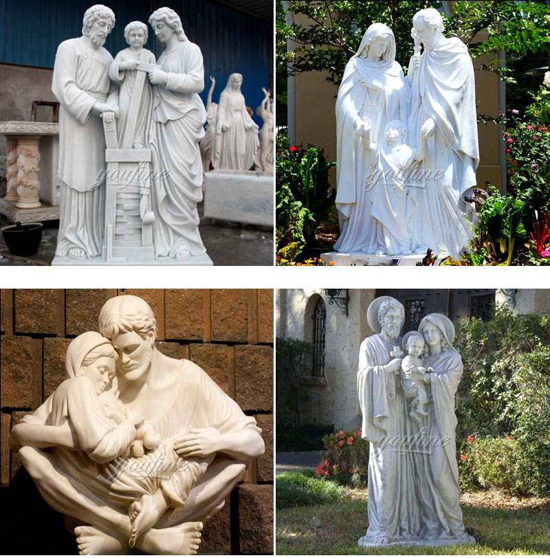 Large Outdoor Famous Holy Family Outside Statue Designs