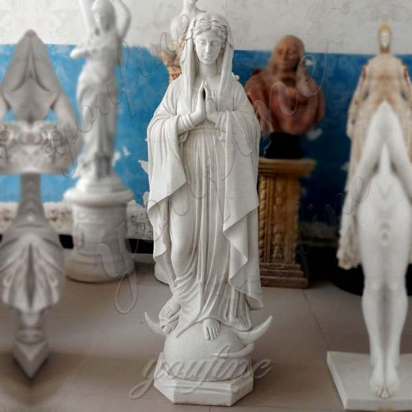 Life Size Religious Marble Virgin Mary Outdoor Statues Catholic