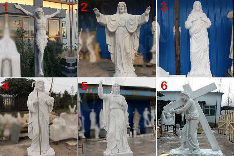 Outdoor Catholic Mary and Baby Jesus Marble Statue for Church CHS-605