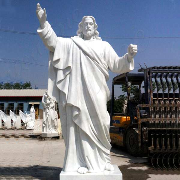 Outdoor Life Size Catholic White Marble Church Jesus Statue