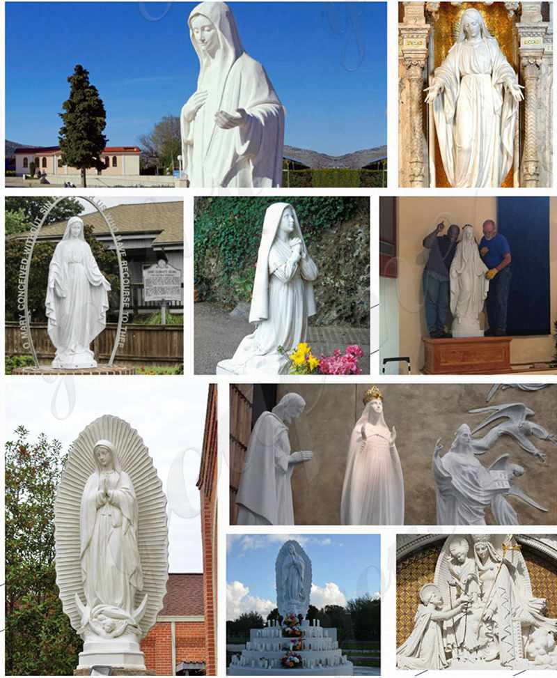 blessed mother statues for outside