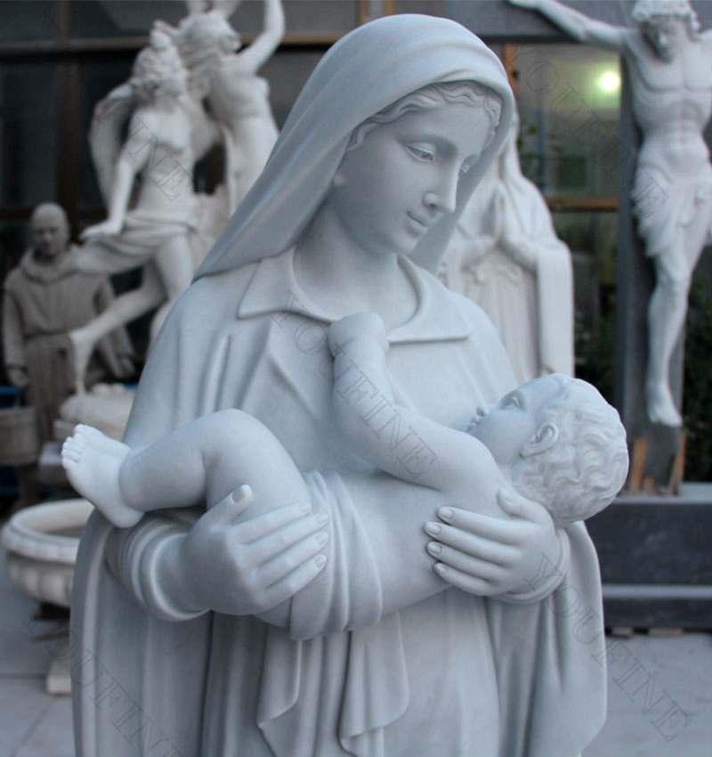 Baby jesus marble statue