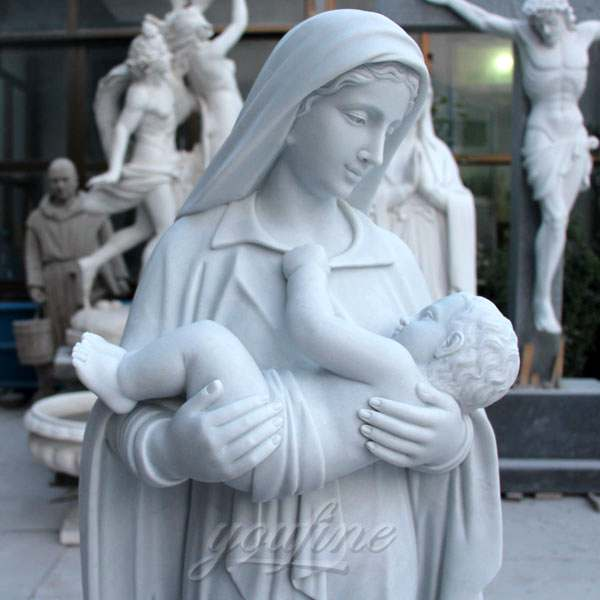 madonna and child garden statue for sale