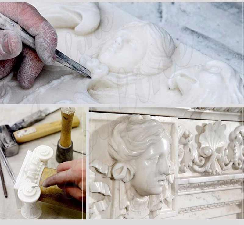 process of marble virgin mary and baby jesus