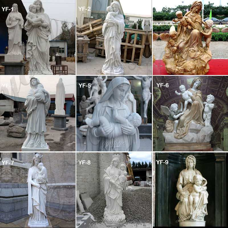Christian Our Lady of Perpetual Marble Statue