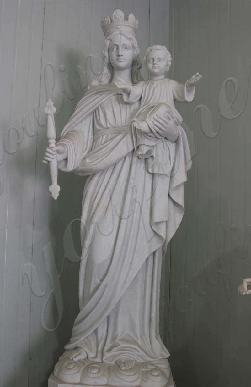 High Quality Christian Our Lady of Perpetual Marble Statue for Sale