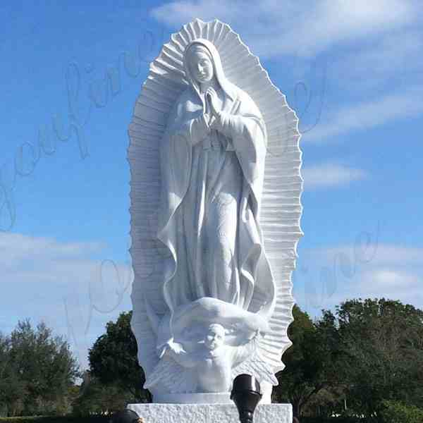 Our Lady of Guadalupe Marble Statue for Outdoor Garden