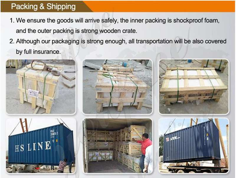 packing of Our Lady of Perpetual Marble Statue