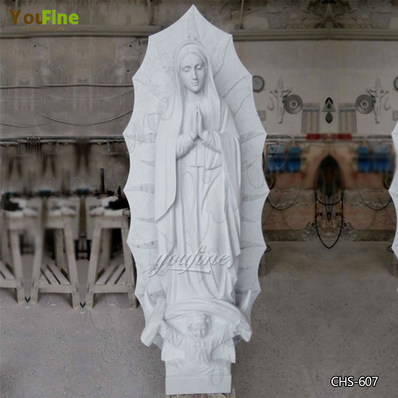 High Quality Marble Statue of Our Lady of Guadalupe in Mexico for Sale