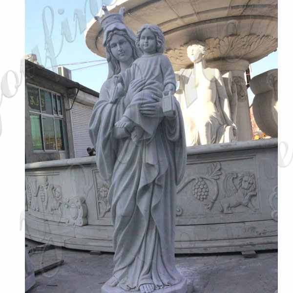 Life Size National Shrine of Our Lady of Good Help Marble Statue for Sale CHS-602