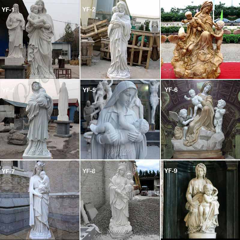 Life Size Our Lady of Good Help Marble Statue for Sale