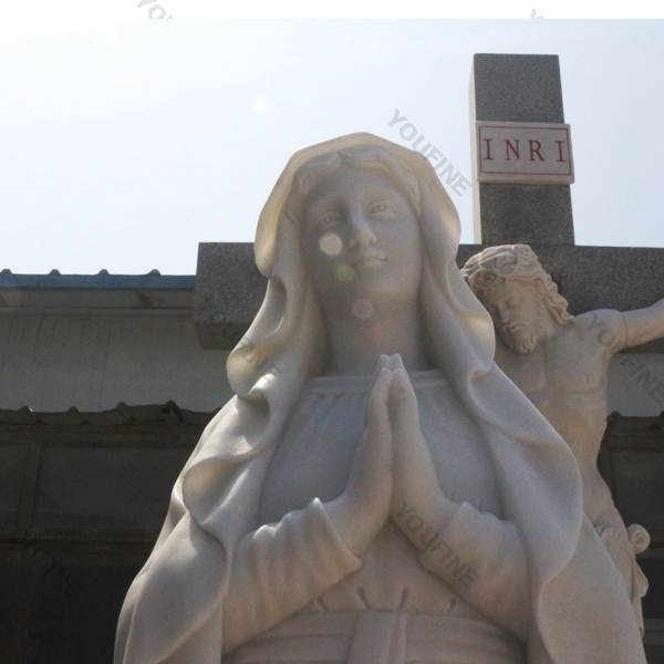 Life Size Statue in Marble of Our Lady of Mary