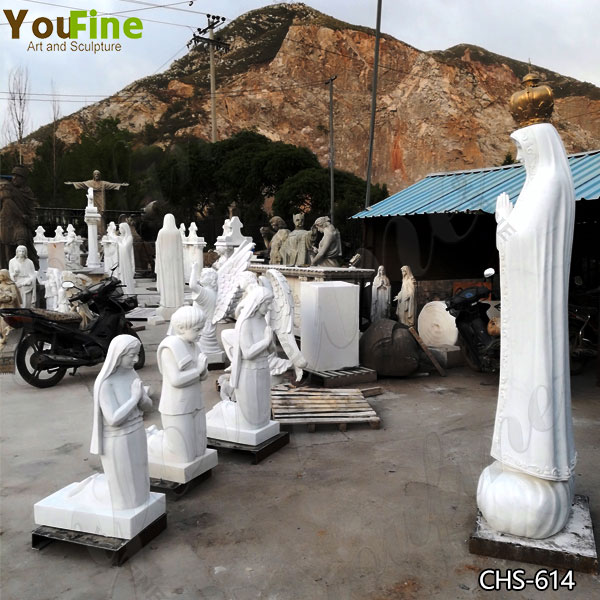 Catholic Outdoor Our Lady of Fatima with Three Children Statues for Sale CHS-614