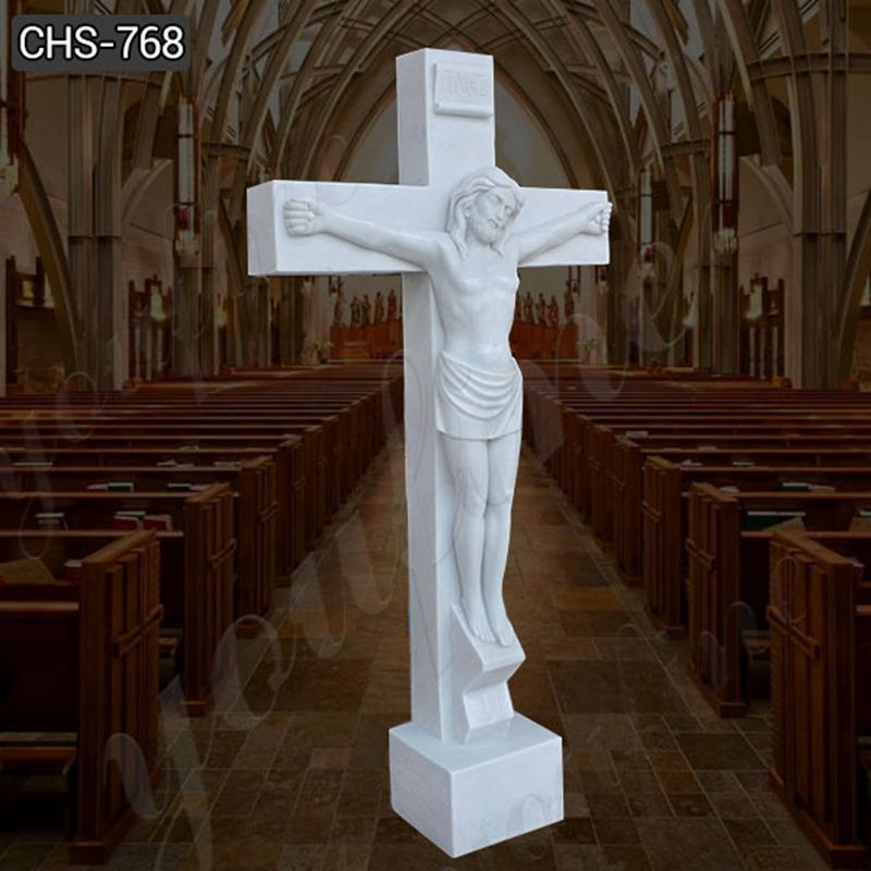 Crucified Jesus Marble Statue for Church