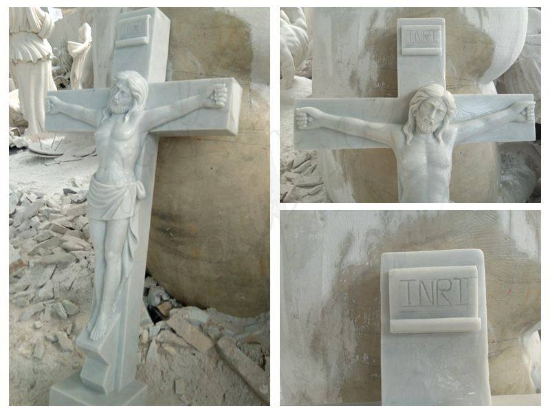 Crucified Jesus Marble Statue